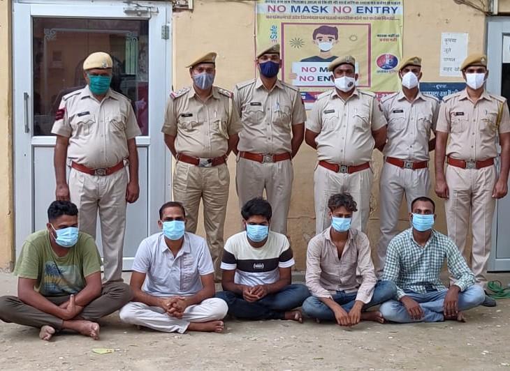 सेक्सटॉर्शन के खेल में 5 युवकों का राजस्थान, महाराष्ट्र और नेपाल तक नेटवर्क, राजगढ़ के पुलिस कॉन्स्टेबल को शिकार बनाया तो पकड़े गए|अलवर,Alwar - Dainik Bhaskar