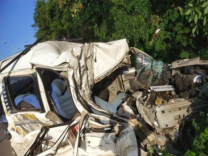 वाराणसी में नेशनल हाइवे पर ट्रक ने स्कॉर्पियो को मारी टक्कर, 3 लोगों की मौत हुई; 2 घायल BHU ट्रॉमा सेंटर में भर्ती|वाराणसी,Varanasi - Dainik Bhaskar