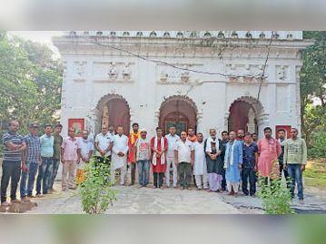 डीडी मैथिली चैनल की मांग को लेकर उपस्थित लोग। - Dainik Bhaskar