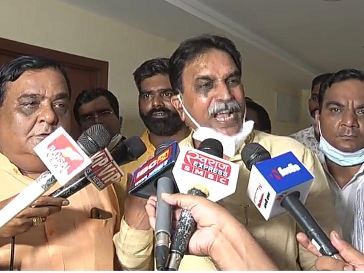 राजेश मूणत बोले- उत्तर प्रदेश में कहीं गिरफ्तार न हो जाएं इसलिए सरकार ने बिछाया जाल, प्रदेश अध्यक्ष साय ने जताया संतोष|रायपुर,Raipur - Dainik Bhaskar