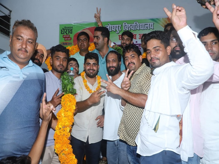 जोधपुर जेएनवीयू के छात्रसंघ अध्यक्ष रविंद्र सिंह भाटी ने कहा- छात्र क्रांति आंदोलन के तहत 13 सितंबर को विधानसभा का किया जायेगा घेराव|झुंझुनूं,Jhunjhunu - Dainik Bhaskar