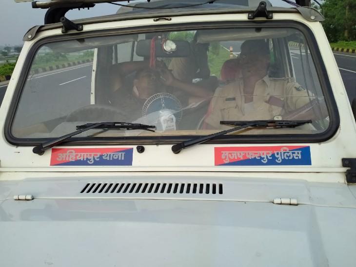 अहियापुर थाने की पुलिस।