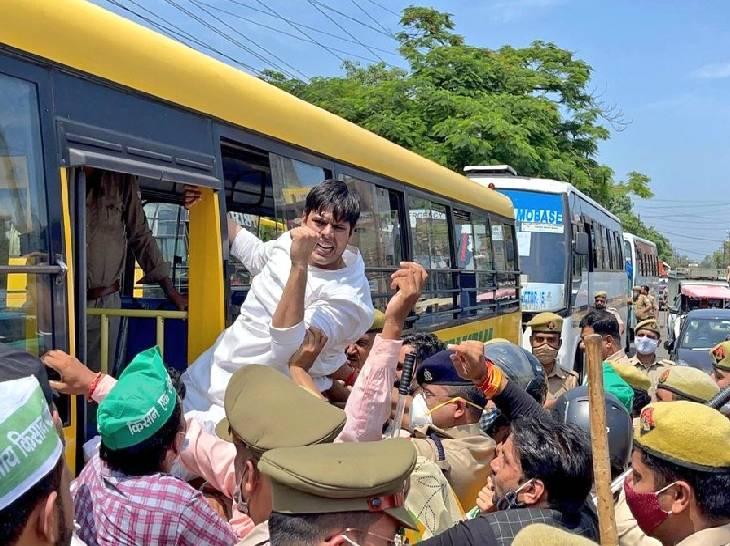 किसानों के पक्ष में प्रदर्शन करने पर गिरफ्तार हुए थे, प्रदेश नेतृत्व ने मांगी रिपोर्ट; आज नोएडा पहुंचेगा 6 सदस्यीय दल|गौतम बुद्ध नगर,Gautambudh Nagar - Dainik Bhaskar