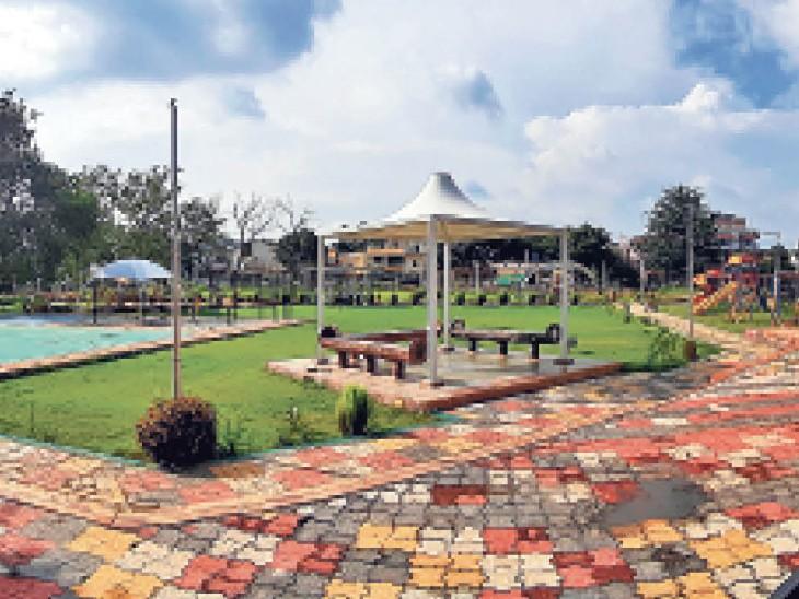 सुविधाओं से सज रहा है पटेल पार्क - Dainik Bhaskar