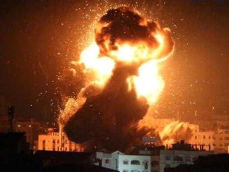 IAF ने हमास के मिलिट्री कंपाउंड में बम गिराए, बैलून अटैक के जवाब में एक्शन लिया|विदेश,International - Dainik Bhaskar
