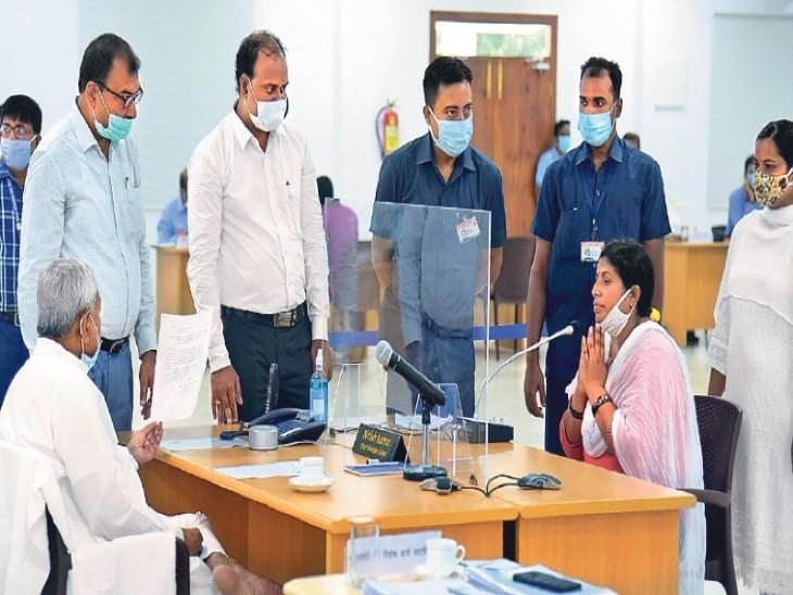 महिला बोली-सर! जदयू एमएलए ने पति की हत्या कराई...सीएम ने दिया जांच का आदेश|पटना,Patna - Dainik Bhaskar