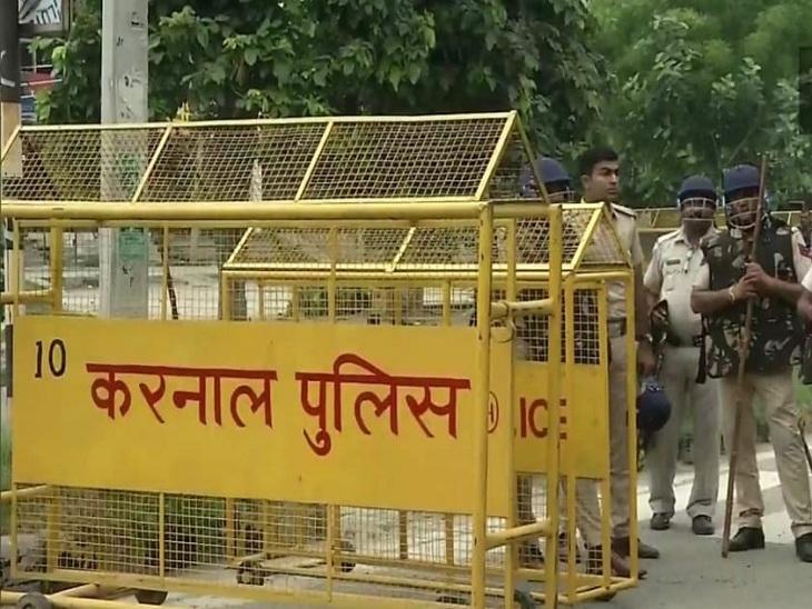 अनाज मंडी के सभी पांचों प्रवेश द्वारों पर पैरामिलिट्री फोर्स लगाई गई है, ताकि किसान शहर में घुस ही न सकें।