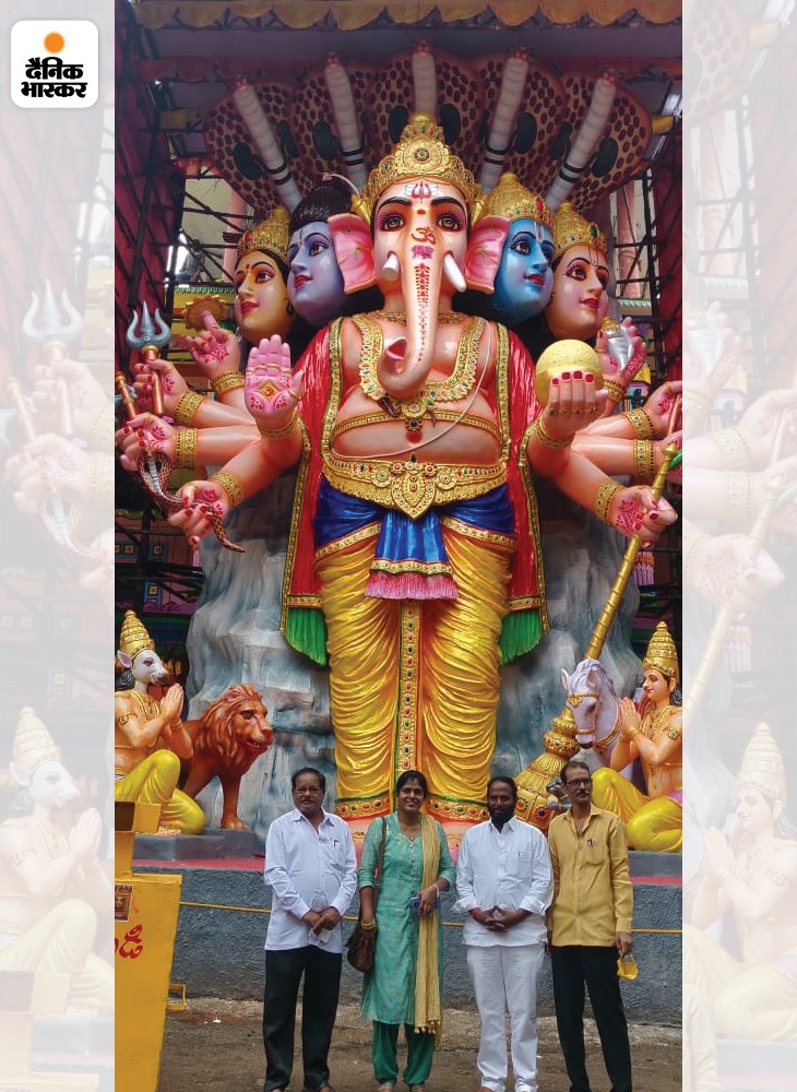 1954 में स्वतंत्रता संग्राम सेनानी एस. शंकरय्या ने खेरताबाद गणेश उत्सव समिति बनाई थी। तब से हर साल यहां गणेश की भव्य प्रतिमा स्थापित की जाती है। एस. शंकरय्या के बाद उनके भाई एस. सुदर्शन के साथ एस. राजकुमार और उनका परिवार गणेश उत्सव का आयोजन हर साल करता है।