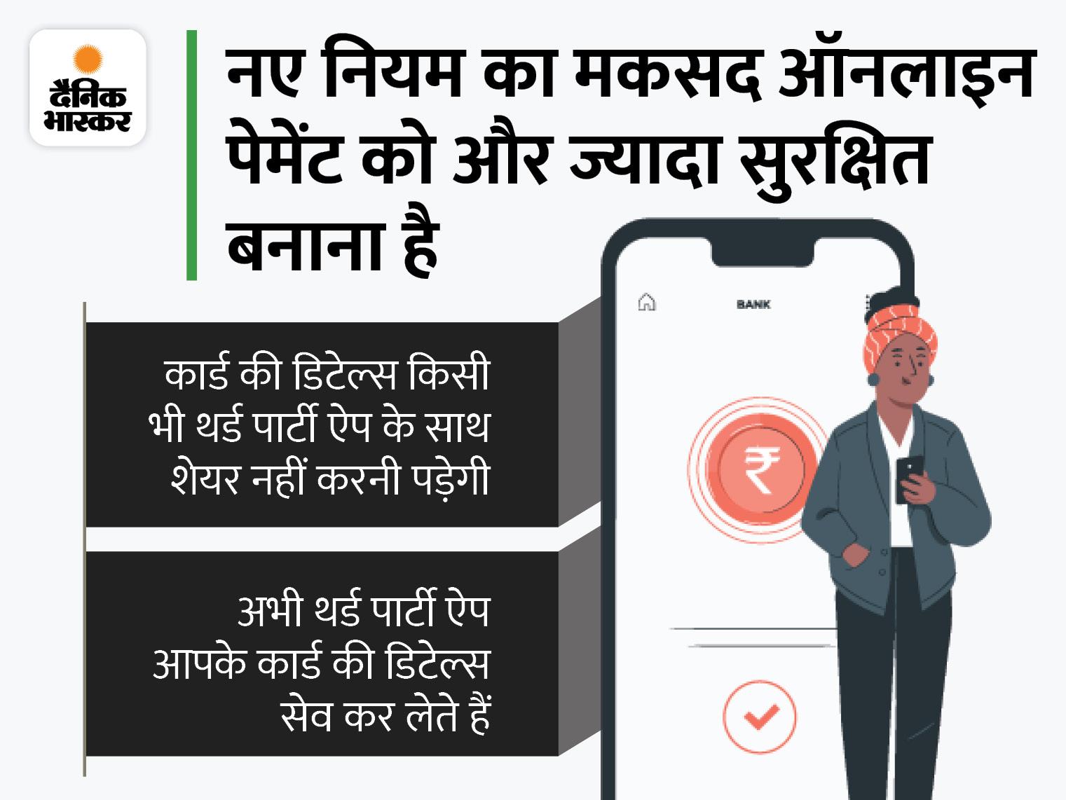1 जनवरी 2022 से बदल जाएगा ऑनलाइन कार्ड पेमेंट का तरीका, RBI ने जारी किए नए नियम|बिजनेस,Business - Dainik Bhaskar