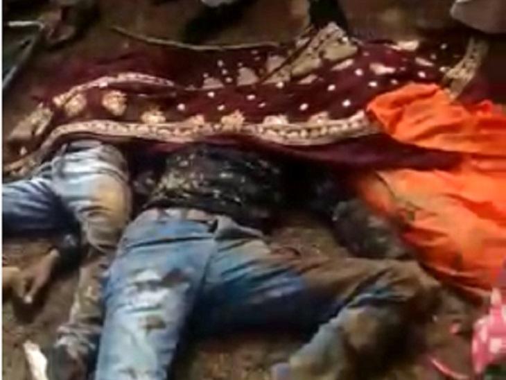 हादसे में अनिल, उनकी पत्नी भारती और बेटे आयुष की मौके पर ही मौत हो गई।