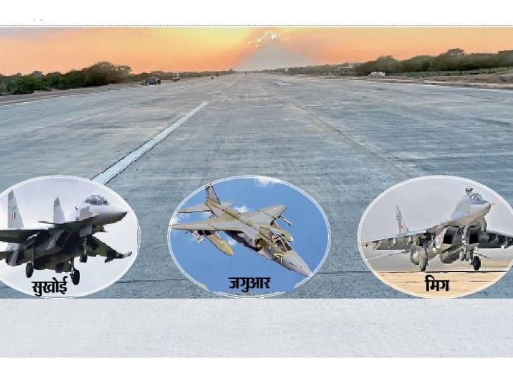 गरजेंगे सुखाेई-30, मिग और जगुआर लड़ाकू विमान, पहली बार इमरजेंसी हवाई पट्टी पर उतरेंगे रक्षा मंत्री राजनाथ|बाड़मेर,Barmer - Dainik Bhaskar