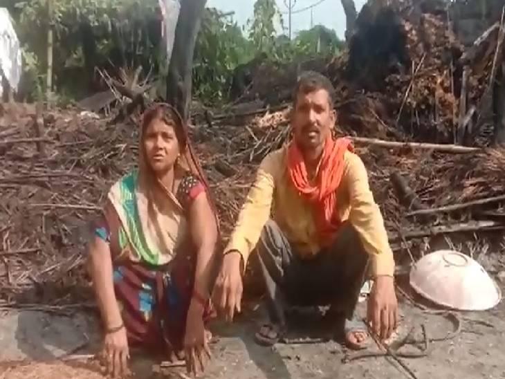 मच्छरों से बचाव के लिए जलाया था अलाव, चपेट में आकर झुलसा पशु कुशीनगर,Kushinagar - Dainik Bhaskar