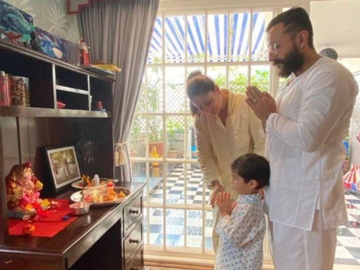 तैमूर के हाथ से बनी गणेश जी की मूर्ति के साथ करीना कपूर ने शेयर की फैमिली फोटो, ट्रोलर्स बोले- सिर्फ नाम के मुस्लिम हैं|बॉलीवुड,Bollywood - Dainik Bhaskar
