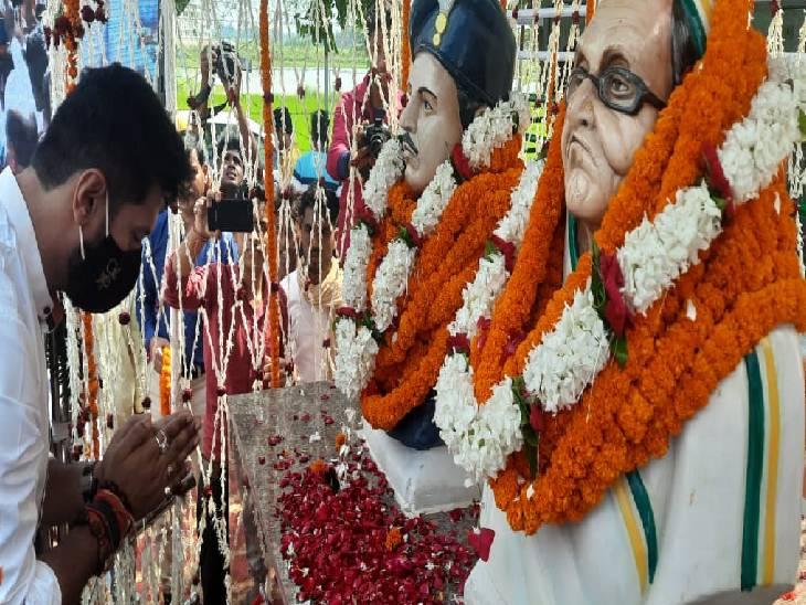 गाजीपुर में जनशक्ति पार्टी के राष्ट्रीय अध्यक्ष चिराग पासवान ने दी श्रद्धांजलि, भारत-पाक युध्द में दिया था अहम योगदान गाजीपुर,Ghazipur - Dainik Bhaskar