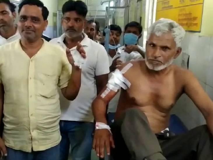 कॉलेज संचालक और पड़ोसी को गोली मारी, हालत गंभीर होने पर एक को प्रयागराज रेफर किया|प्रतापगढ़,Pratapgarh - Dainik Bhaskar