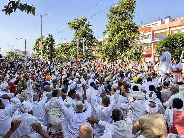 दो दिन रहकर गाजीपुर बॉर्डर लौटे राकेश टिकैत, बोले- आंदोलन को दिल्ली से खींचकर हरियाणा ले जाना चाहती है खट्टर सरकार गाजियाबाद,Ghaziabad - Dainik Bhaskar