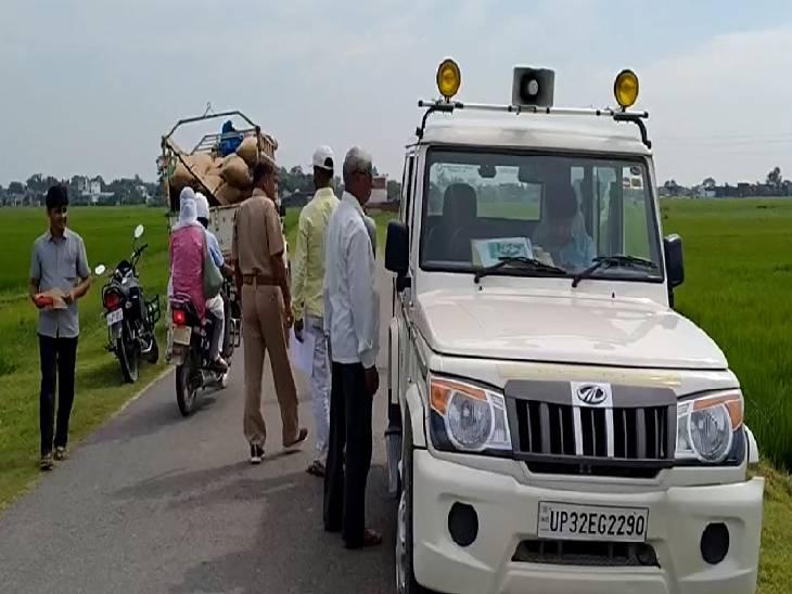 वाहन चेकिंग के दौरान लोगों से की हेलमेट लगाने की अपील, कई गाड़ियों के किए गए ई चालान|सिद्धार्थनगर,Siddharthnagar - Dainik Bhaskar