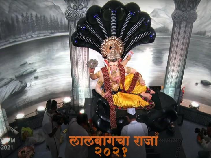 सभी प्रमुख गणेश मंडलों में हुई बप्पा की पूजा, मुंबई-पुणे समेत सभी बड़े शहरों में धारा 144 लगाई गई; सामने आई 'लाल बाग के राजा' की पहली तस्वीर महाराष्ट्र,Maharashtra - Dainik Bhaskar