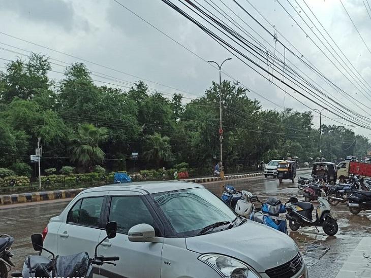 रायपुर सहित छत्तीसगढ़ के कई जिलों में तेज बरसात, अनेक स्थानों पर भारी वर्षा और बिजली गिरने की भी संभावना|रायपुर,Raipur - Dainik Bhaskar