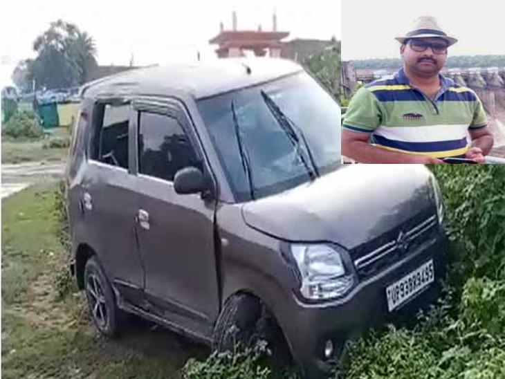 सड़क दुर्घटना में पत्रकार की मौत, दो की हालत गंभीर , झांसी-शिवपुरी हाइवे पर कार डिवाइडर से टकरा गई|झांसी,Jhansi - Dainik Bhaskar