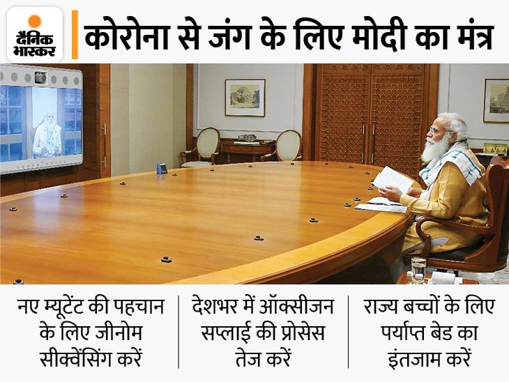 PM बोले- ऑक्सीजन सप्लाई तेजी से बढ़ाएं; बच्चों के बेड और दवाइयों का इंतजाम करें|देश,National - Dainik Bhaskar
