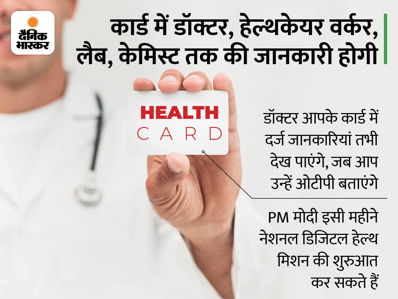 इसमें आपका पूरा मेडिकल रिकॉर्ड होगा; आप किसी भी अस्पताल में जाएं, पिछली सभी रिपोर्ट्स वहीं मिल जाएंगी|बिजनेस,Business - Dainik Bhaskar