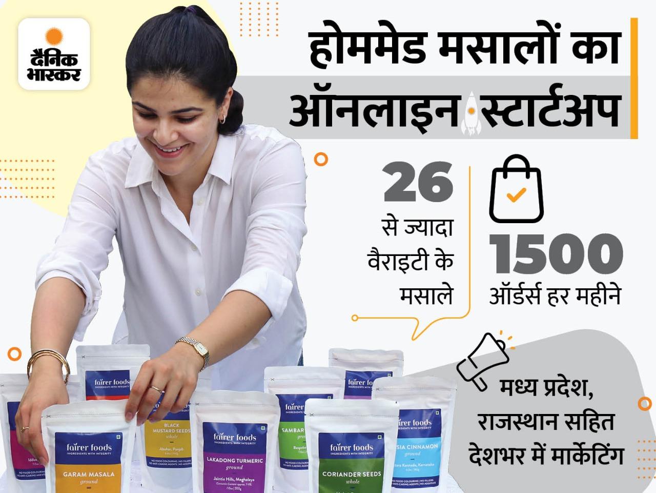 लॉकडाउन में किचन के मसाले खत्म हुए तो घर पर ही मसाले तैयार करना शुरू किया, अब देशभर में मार्केटिंग, हर महीने लाखों कमा रहीं|DB ओरिजिनल,DB Original - Dainik Bhaskar