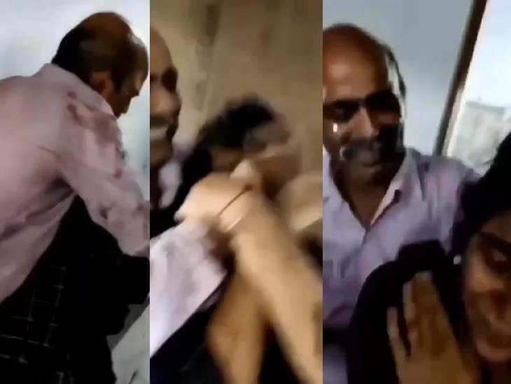 रामपुर में शिक्षक ने छात्रा को गलत ढंग से पकड़कर जबरदस्ती केक लगाया, बोला- देखा कोई आया बचाने; पुलिस ने हिरासत में लिया रामपुर,Rampur - Dainik Bhaskar