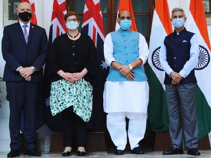 राजनाथ सिंह और एस जयशंकर से मिले ऑस्ट्रेलिया के विदेश-रक्षा मंत्री, PM मोदी से भी की मुलाकात देश,National - Dainik Bhaskar