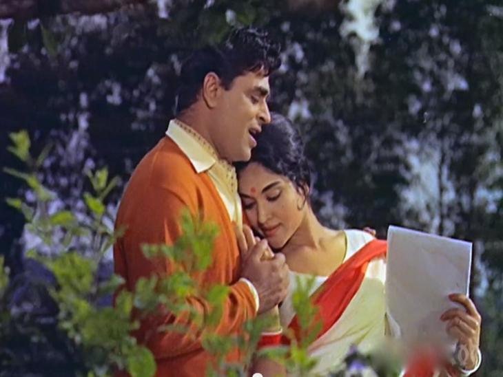 संगम फिल्म के गीत 'ये मेरा प्रेम पत्र पढ़कर तुम नाराज़ ना होना' में राजेंद्र कुमार और वैजयंती माला। - Dainik Bhaskar