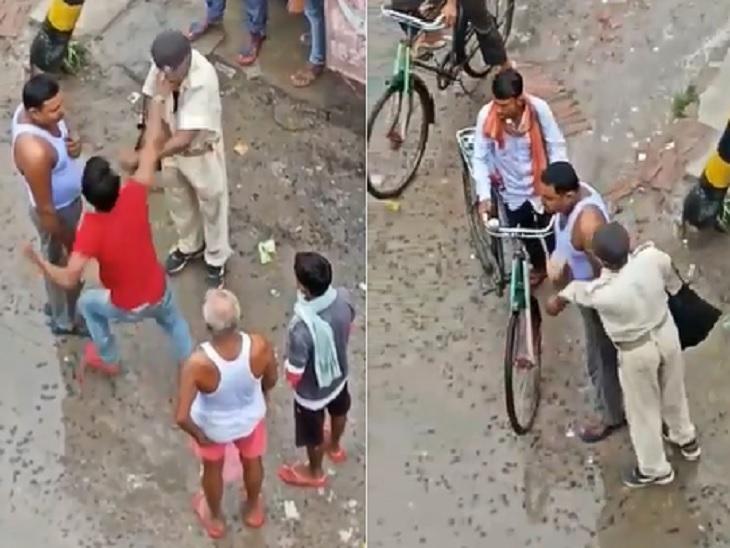 सिपाही 2 लोगों के विवाद को सुलझाने पहुंचा था, एक से दूसरे के पैर छूकर माफी मांगने को कहा तो आ गया गुस्सा|वैशाली,Vaishali - Dainik Bhaskar