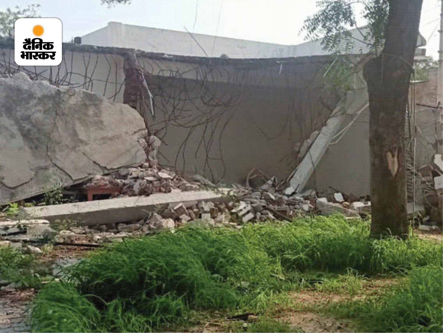 बिकरू कांड के बाद पुलिस ने विकास के घर को इस तरह नेस्तनाबूत कर दिया था।
