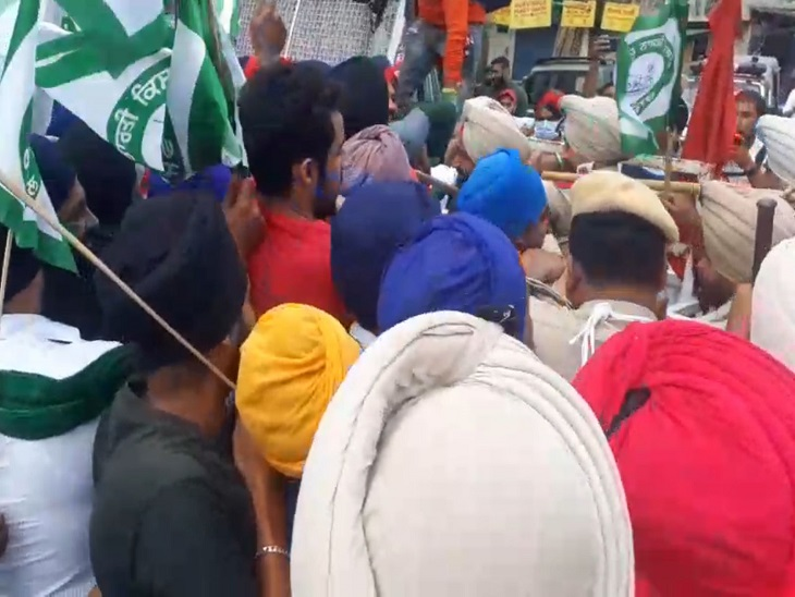 Farmers riot outside