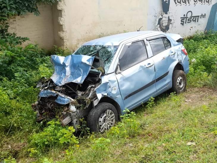 हाइवे पर कार पलटने से एक की मौत, चार घायलों को अस्पताल में कराया भर्ती|बैतूल,Betul - Dainik Bhaskar