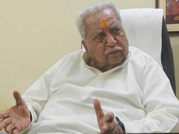 गुजरात के दो बार मुख्यमंत्री रहे स्व. केशुभाई पटेल की फाइल फोटो।
