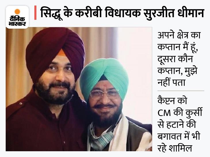 अमरगढ़ के विधायक सुरजीत धीमान बोले- नवजोत सिद्धू हों CM का चेहरा, कैप्टन की अगुवाई में चुनाव नहीं लड़ूंगा|जालंधर,Jalandhar - Dainik Bhaskar