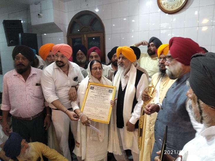 कोरोनाकाल की तर्ज पर समाज सेवा का दिया गया संदेश, कीर्तन कर कोरोना मुक्त देश के लिए हुई अरदास|कानपुर,Kanpur - Dainik Bhaskar