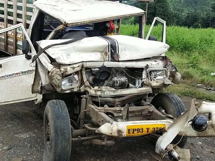 पांचों हादसों में ब्रेक फेल होने से हुए, 6 लोग घायल, एक गंभीर घायल को इंदौर किया रैफर|धार,Dhar - Dainik Bhaskar