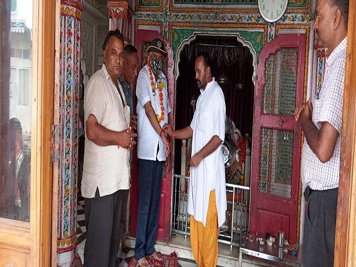 जोन नंबर 6 में सुबह की पारी में भम्रण करने आए नजर, दंडवीर बालाजी के दर्शन कर शहरवासियों की परेशानी को जाना सवाई माधोपुर,Sawai Madhopur - Dainik Bhaskar