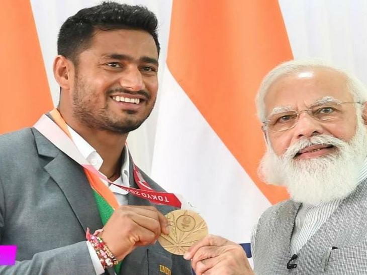 सुंदर गुर्जर ने प्रधानमंत्री से अगले ओलिंपिक में फिर मेडल जीतने का किया वादा।