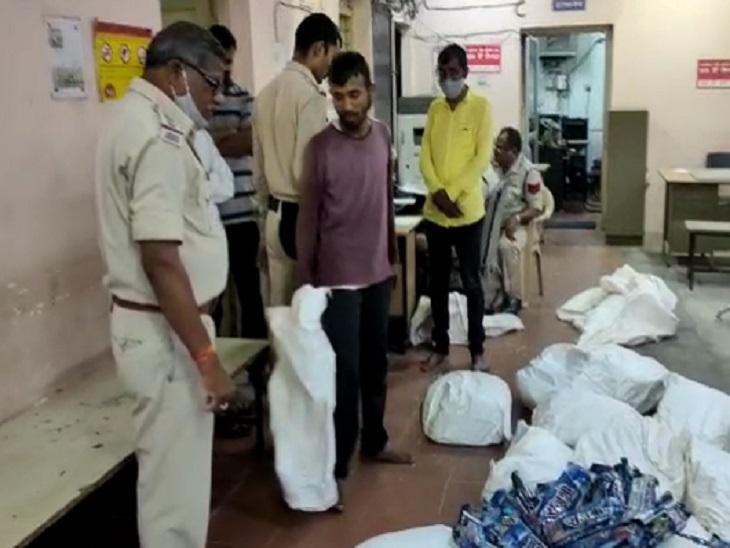 बीच रास्ते में पुलिस ने रोककर तलाशी ली तो निकला लाखों का माल, दो कारोबारियों को किया गया गिरफ्तार|रायपुर,Raipur - Dainik Bhaskar