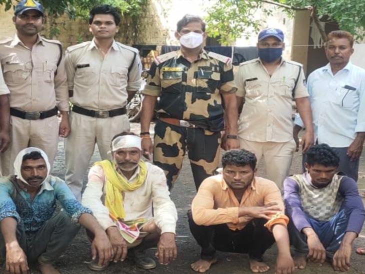 गुना में 4 बीघा जमीन को लेकर दो गांव के ग्रामीणों ने एक-दूसरे पर धारदार हथियारों से किया था हमला; युवक की हुई थी मौत, 4 आरोपी अरेस्ट|गुना,Guna - Dainik Bhaskar