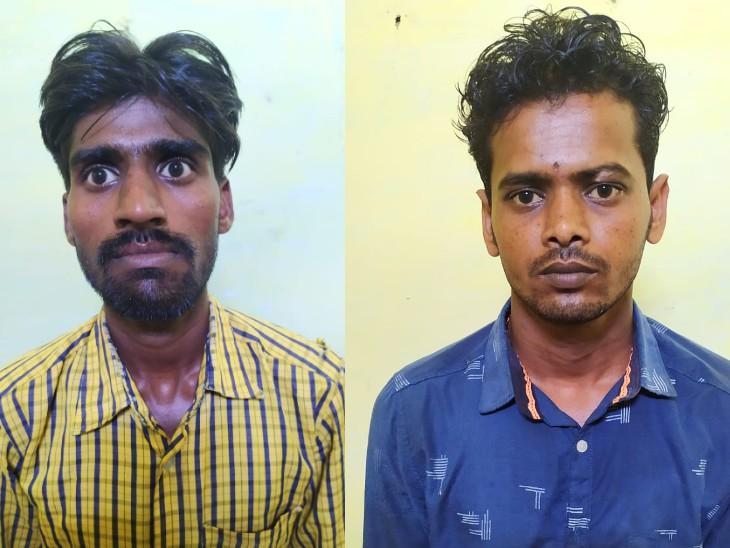 हत्या के आरोपी रामचरण और वीरेंद्र। - Dainik Bhaskar