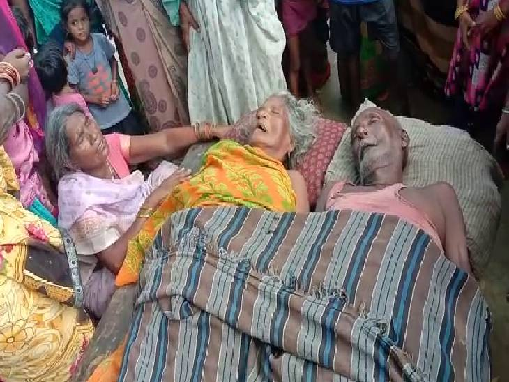गीले कपड़े डाल रही महिला करंट की चपेट में आई, बचाने आया पति भी चपेट में आया, दोनों की मौत|रायबरेली,Raibareli - Dainik Bhaskar