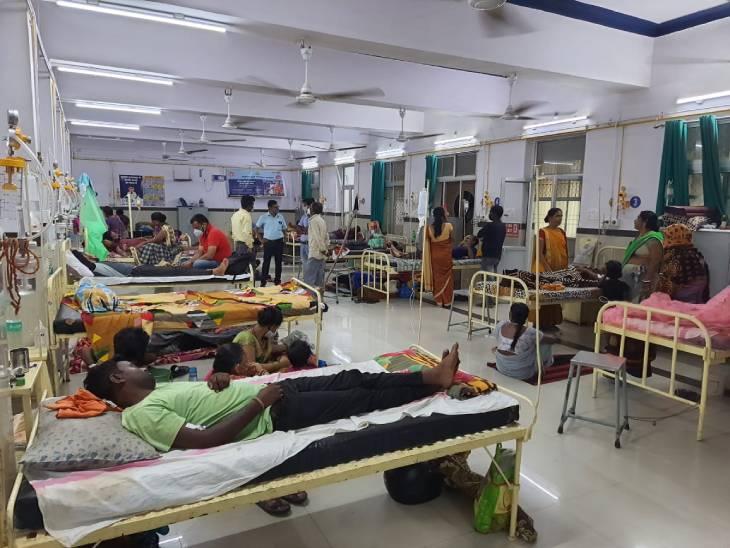 विक्टोरिया में डेंगू के मरीजों से वार्ड फुल।