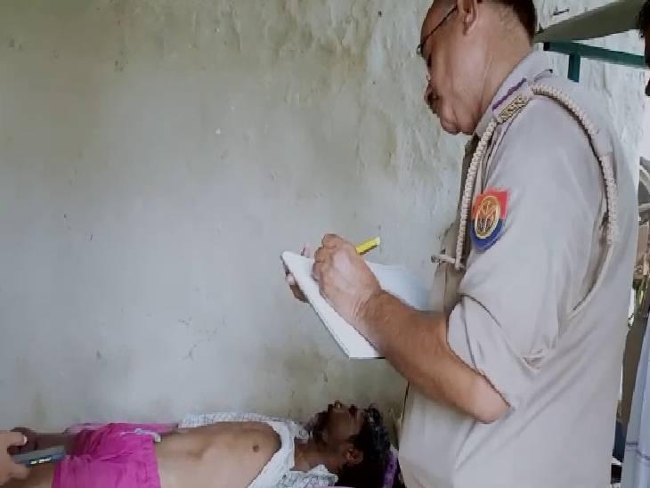 संदिग्ध परिस्थितियों में हुई थी मौत, परिजन पुलिस को बिना बताए करने जा रहे थे अंतिम संस्कार, पुलिस ने शव के साथ लौटाया|सुलतानपुर,Sultanpur - Dainik Bhaskar