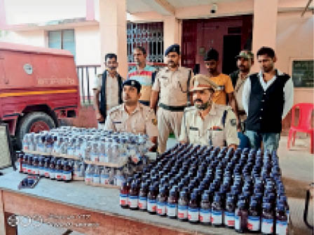 जोकीहाट में नशीली दवा के साथ गिरफ्तार आरोपी। - Dainik Bhaskar