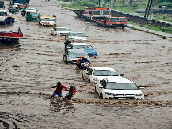 जहां कॉलोनियां व सेक्टर पानी से थे लबालब वहां नहीं गए परिवहन मंत्री, जहां पड़ा था सूखा वहां कर रहे थे निरीक्षण|फरीदाबाद,Faridabad - Dainik Bhaskar