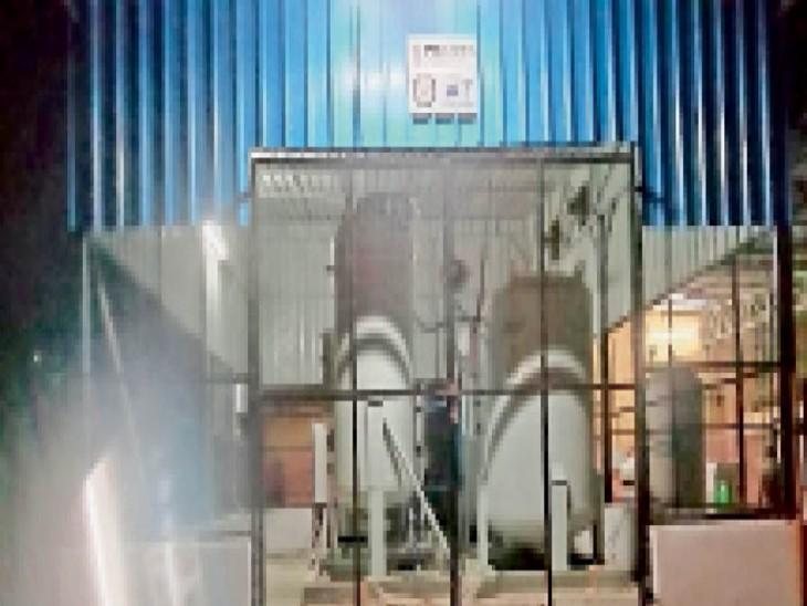 शुरू हुआ एसके हाॅस्पिटल का प्लांट, एक दिन में 230 सिलेंडर ऑक्सीजन का उत्पादन होगा|सीकर,Sikar - Dainik Bhaskar