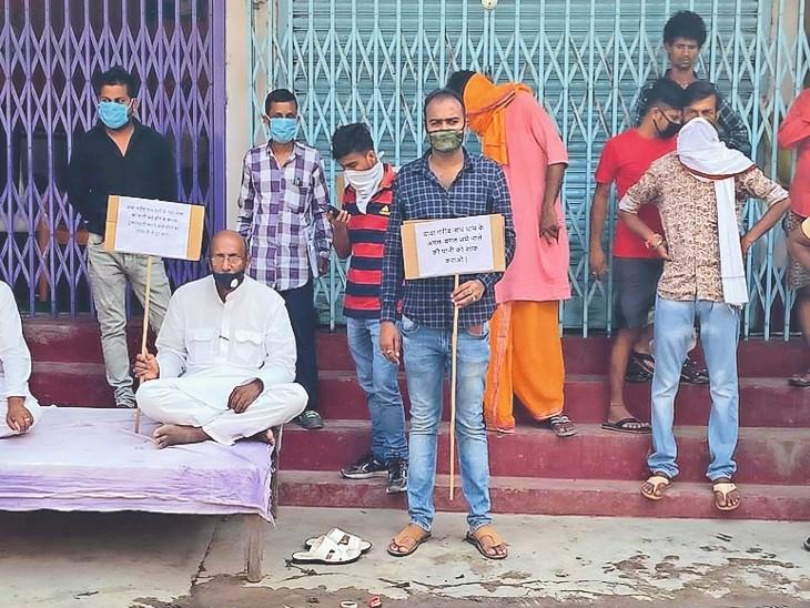 जिस राेड-नाला के लिए विधायक ने दिया धरना, वह बनने लगा ताे बाेले- इससे महज 6 परिवाराें काे लाभ|मुजफ्फरपुर,Muzaffarpur - Dainik Bhaskar